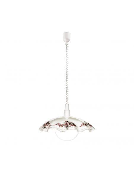 EGLO 3041 - VETRO Lámpara colgante de Cristal en Acrílico blanco y Vidrio satinado