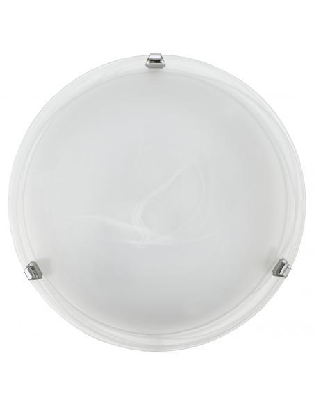 EGLO 7186 - SALOME Lámpara de Salón en Acero cromo y Vidrio alabastro