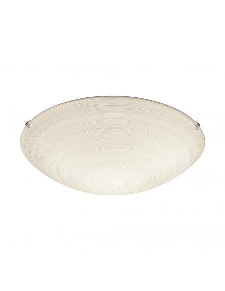 EGLO 90015 - MALVA Lámpara de Salón en Acero blanco y Vidrio técnica de limpieza
