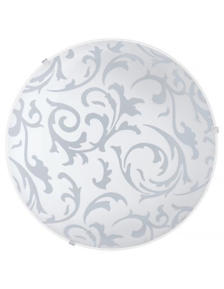 EGLO 90043 - SCALEA 1 Lámpara de Salón en Acero blanco y Vidrio satinado