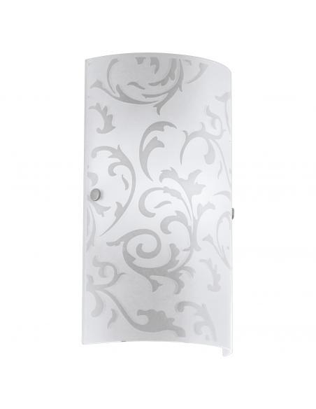 EGLO 90049 - AMADORA Lámpara de Salón en Acero níquel-mate y Vidrio impreso