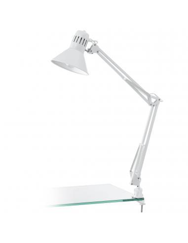 EGLO 90872 - FIRMO Lámpara de Oficina en Acero, plástico blanco brillante