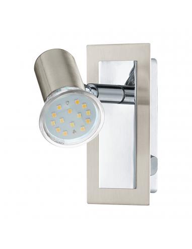EGLO 90914 - ROTTELO Lámpara de Salón en Acero níquel-mate, cromo
