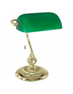 EGLO 90967 - BANKER Lámpara de Oficina en Acero latón y Vidrio lacado