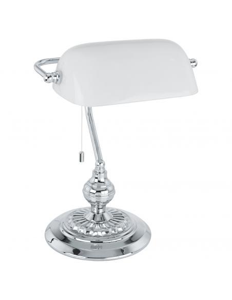 EGLO 90968 - BANKER Lámpara de Oficina en Acero cromo y Vidrio satinado