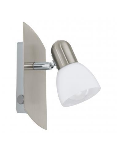 EGLO 90982 - ENEA Lámpara de Salón en Acero níquel-mate y Vidrio satinado
