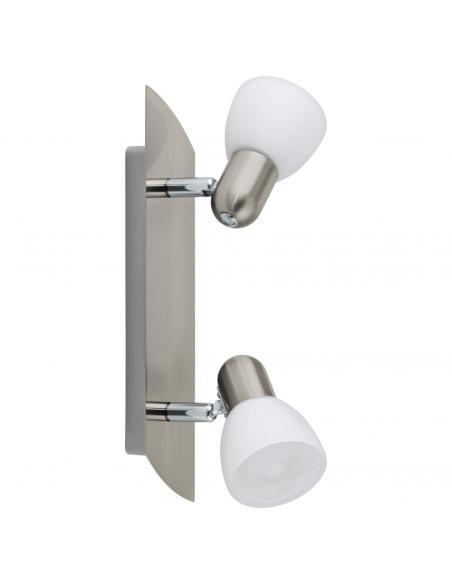 EGLO 90984 - ENEA Lámpara de Salón en Acero níquel-mate y Vidrio satinado