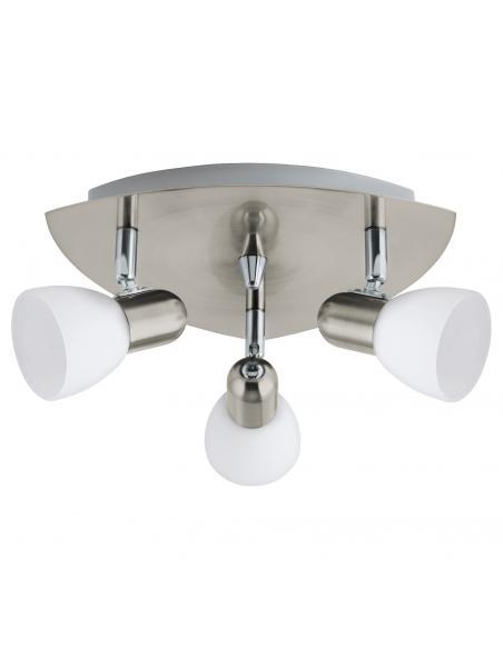 EGLO 90986 - ENEA Lámpara de Salón en Acero níquel-mate y Vidrio satinado