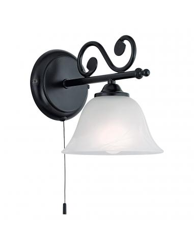 EGLO 91006 - MURCIA Lámpara de Salón en Acero negro y Vidrio alabastro