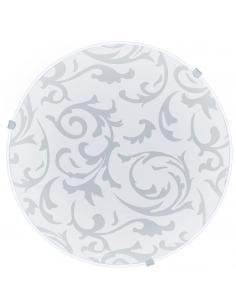 EGLO 91236 - MARS Lámpara de Salón en Acero blanco y Vidrio satinado