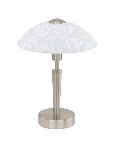 EGLO 91238 - SOLO Lámpara de Salón en Acero níquel-mate y Vidrio satinado