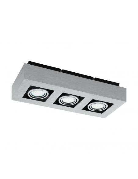 EGLO 91354 - LOKE 1 Lámpara de Superficie LED en Aluminio, acero aluminio cepillado, cromado, negro