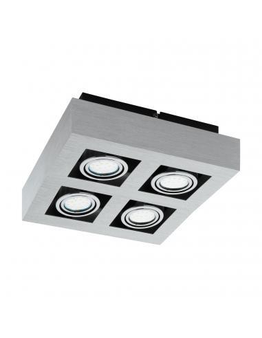 EGLO 91355 - LOKE 1 Lámpara de Superficie LED en Aluminio, acero aluminio cepillado, cromado, negro