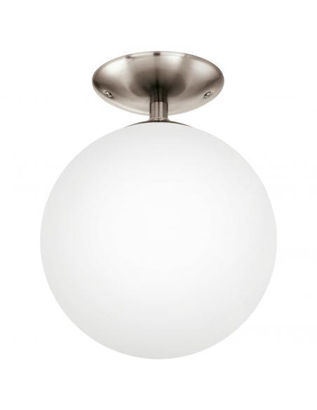 EGLO 91589 - RONDO Lámpara de Salón en Acero níquel-mate y Vidrio opalino mate