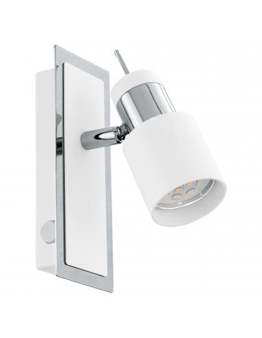 EGLO 92084 - DAVIDA Lámpara de Salón en Acero cromo, blanco