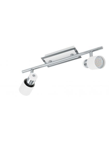 EGLO 92085 - DAVIDA Lámpara de Salón en Acero cromo, blanco