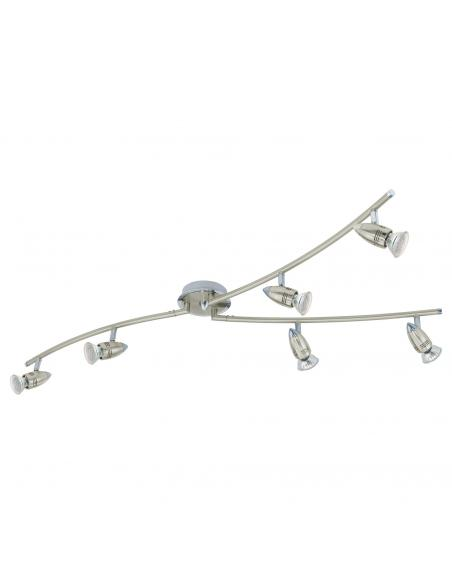 EGLO 92645 - MAGNUM-LED Lámpara de Salón en Acero níquel-mate, cromo