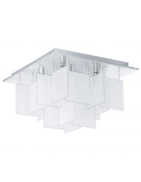 EGLO 92726 - CONDRADA 1 Lámpara de Salón en Acero cromo y Vidrio satinado