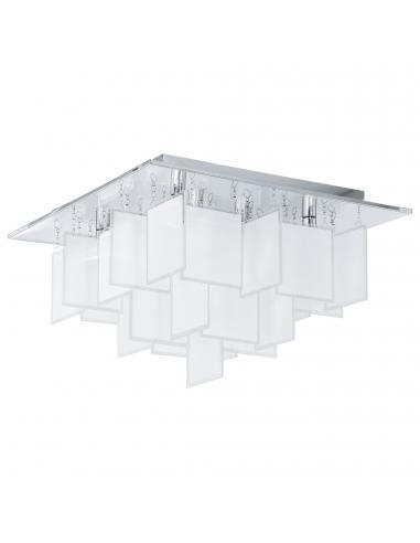 EGLO 92727 - CONDRADA 1 Lámpara de Salón en Acero cromo y Vidrio satinado