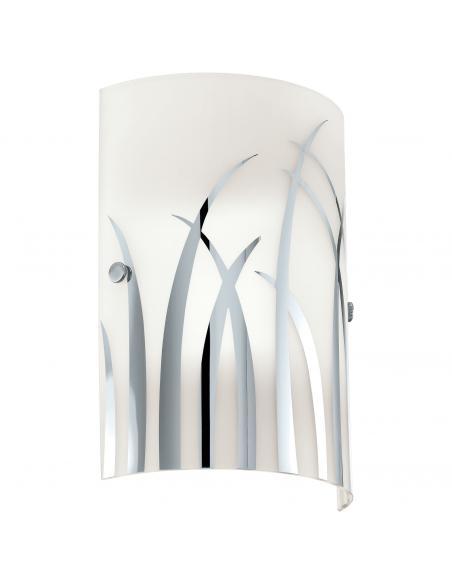 EGLO 92742 - RIVATO Lámpara de Salón en Acero blanco, cromo y Vidrio lacado