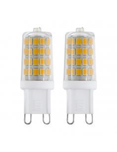 Plafón LED FRADELO cromo/metacrilato con 1 elemento cuadrado