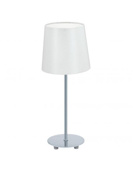 EGLO 92884 - LAURITZ Lámpara de Tela en Acero cromo y Textil
