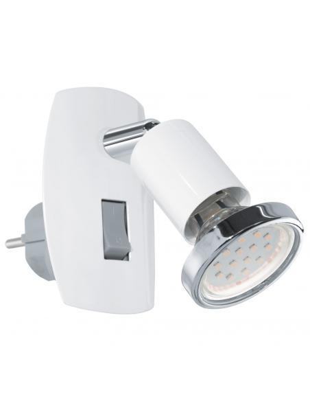 EGLO 92925 - MINI 4 Lámpara de Salón en Acero blanco, cromo
