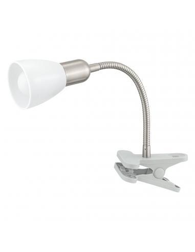 EGLO 92932 - DAKAR 3 Lámpara de Pinza LED en Acrílico, acero plata, cromo y Acrílico