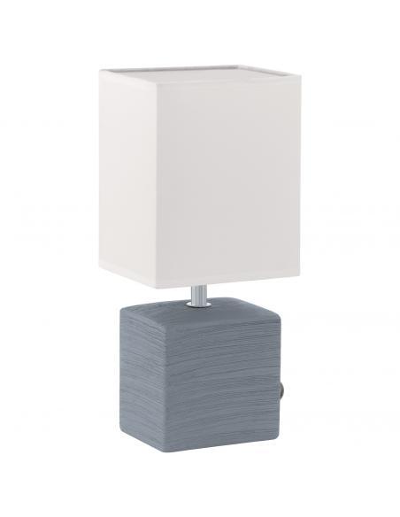EGLO 93044 - MATARO Lámpara de Tela en Cerámica gris y Textil