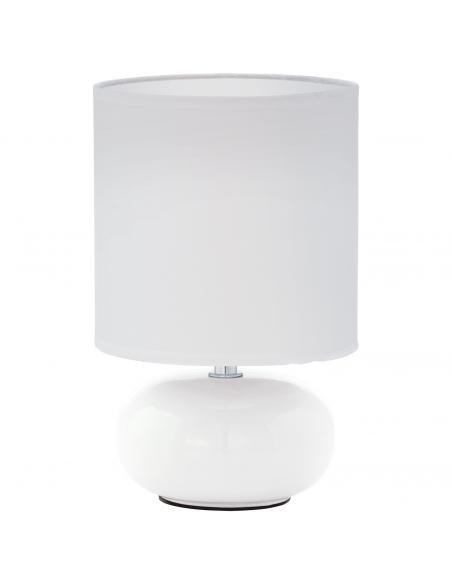 EGLO 93046 - TRONDIO Lámpara de Tela en Cerámica blanco y Textil