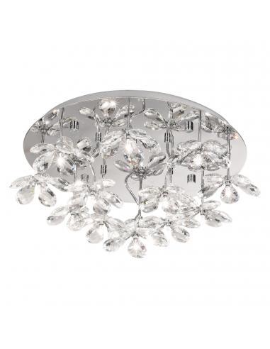 EGLO 93081 - PONTEDO Lámpara de Salón en Acero inoxidable cromo y Vidrio