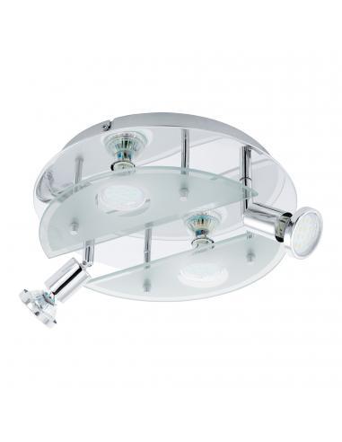 EGLO 93085 - CABO 1 Plafón LED en Acero cromo y Vidrio satinado
