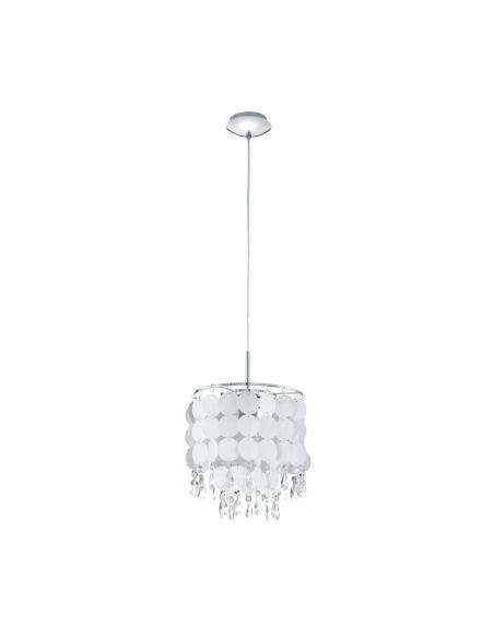 EGLO 93092 - FEDRA 2 Lámpara de Salón en Acero cromo y Lámina, cristal