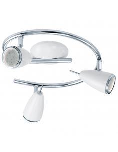 EGLO 93132 - RICCIO 2 Lámpara de Salón en Acero blanco, cromo