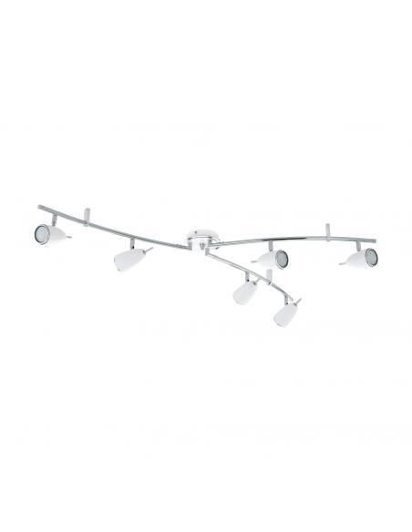 EGLO 93134 - RICCIO 2 Lámpara de Salón en Acero blanco, cromo