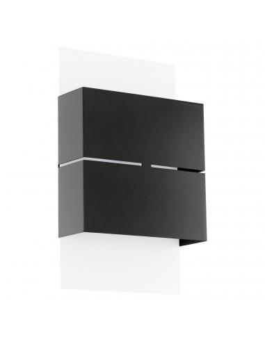 EGLO 93254 - KIBEA Aplique de exterior LED en Acero galvanizado blanco, antracita