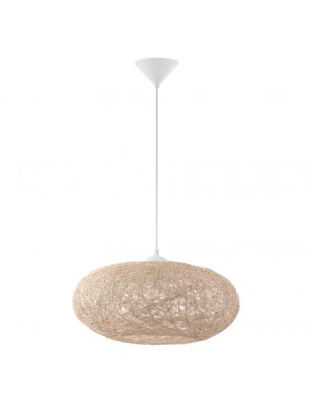 EGLO 93374 - CAMPILO Lámpara de Salón en Acrílico blanco y Hilado textil
