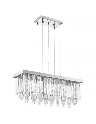 EGLO 93422 - CALAONDA Lámpara de Salón en Acero inoxidable cromo y Cristal
