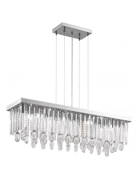 EGLO 93423 - CALAONDA Lámpara de Salón en Acero inoxidable cromo y Cristal