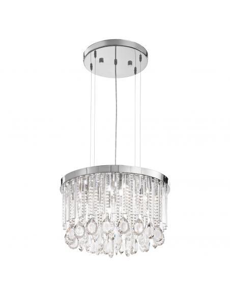 EGLO 93425 - CALAONDA Lámpara de Salón en Acero inoxidable cromo y Cristal
