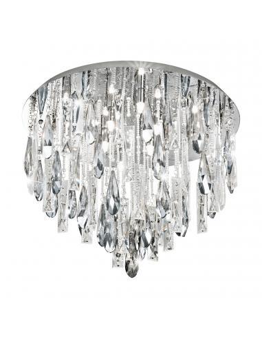 EGLO 93433 - CALAONDA Plafón de Cristal en Acero inoxidable cromo y Cristal