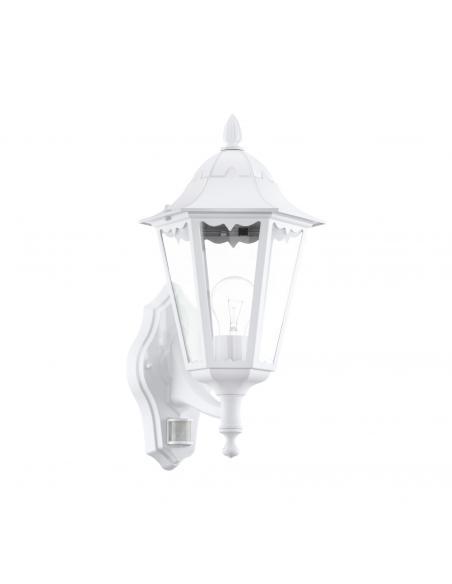 EGLO 93447 - NAVEDO Aplique de exterior con sensor de movimiento en Fundición de aluminio blanco y Vidrio