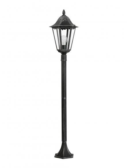EGLO 93463 - NAVEDO Baliza en Fundición de aluminio negro, plata-pátina y Vidrio