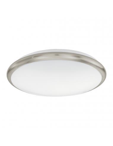 EGLO 93498 - MANILVA Plafón LED en Acero níquel-mate y Acrílico