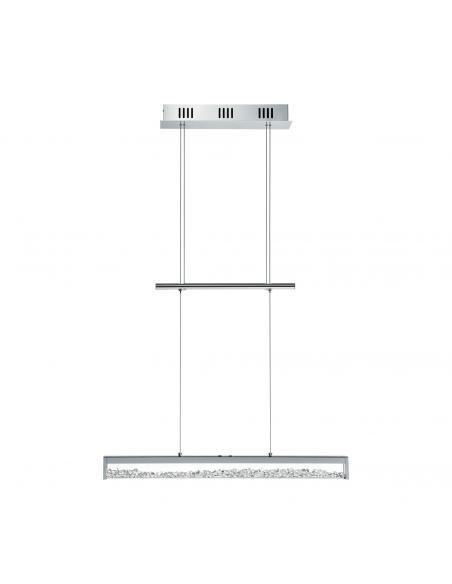 EGLO 93625 - CARDITO 1 Lámpara colgante LED en Aluminio, acero cromo y Vidrio, cristal