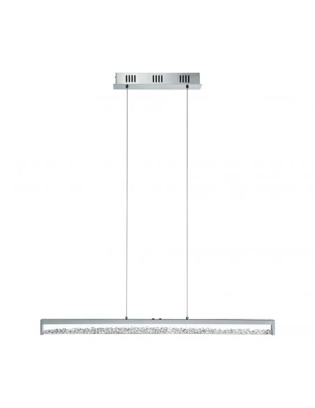 EGLO 93626 - CARDITO 1 Lámpara colgante LED en Aluminio, acero cromo y Vidrio, cristal