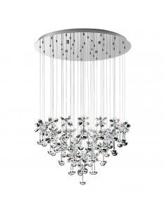 EGLO 93661 - PIANOPOLI Lámpara colgante LED en Acero inoxidable cromo y Cristal