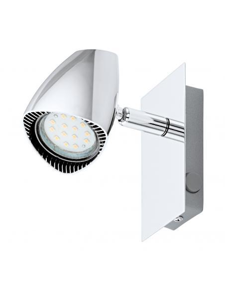 EGLO 93672 - CORBERA Lámpara de Salón en Acero, plástico cromo