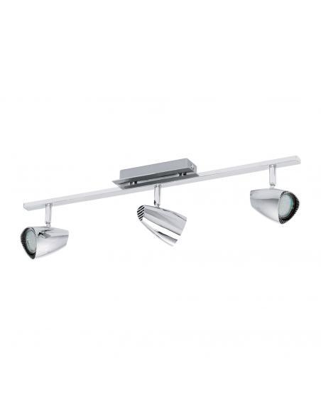 EGLO 93674 - CORBERA Lámpara de Salón en Acero, plástico cromo
