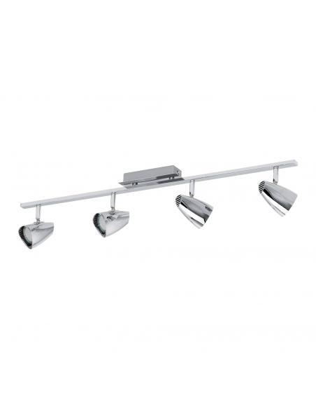 EGLO 93675 - CORBERA Lámpara de Salón en Acero, plástico cromo
